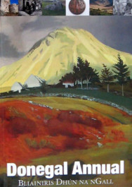 """The front cover of the 2014 Donegal Annual,  with the cover art """"Errigal in Autumn"""" by Carey Clarke."""