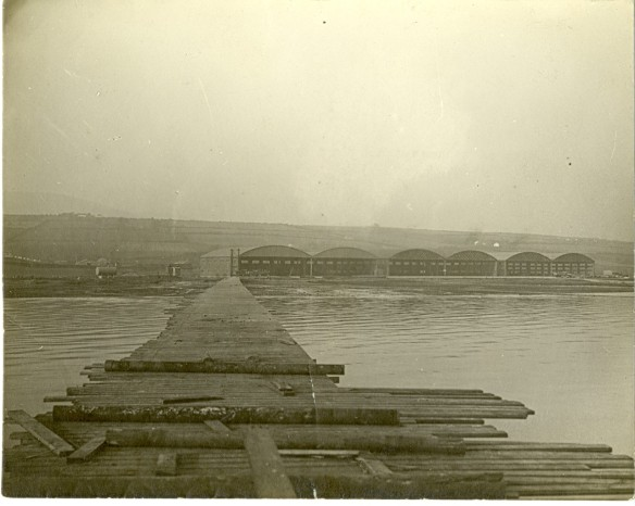 thumbnail_1918 US LAS Lough Foyle long dock extending out to channel in otherwise shallow Foyle for picking up supplies from ships.